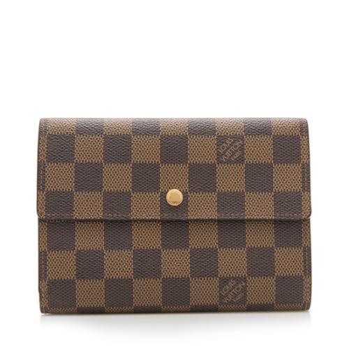 60a2fc35be095 Louis-Vuitton-Damier-Ebene-Porte-Tresor-Etui-Papiers -Wallet 92965 front large 0.jpg