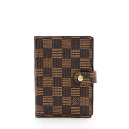 Louis Vuitton Damier Ebene Small Ring Agenda Cover