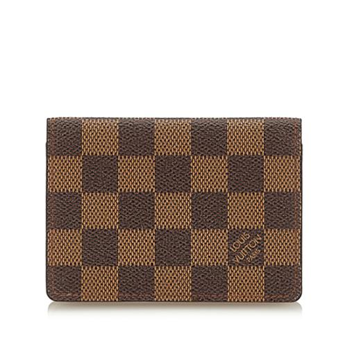 Louis Vuitton Damier Ebene Two Card Holder Wallet