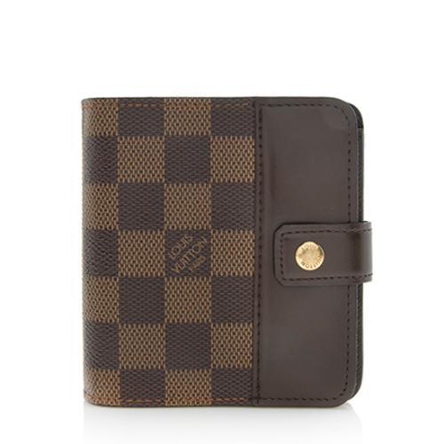 Louis Vuitton Damier Ebene Zipped Compact Wallet