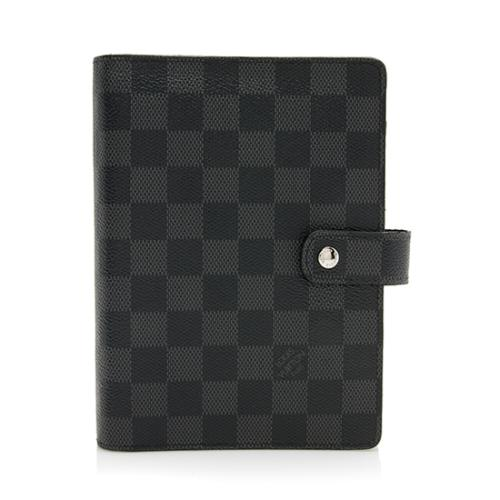 Louis Vuitton Damier Graphite Medium Ring Agenda Cover
