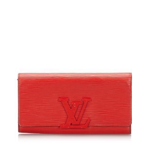 Louis Vuitton Epi Leather Louise Long Wallet