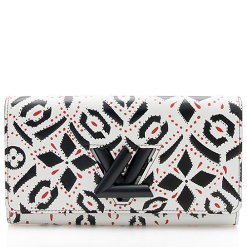 Louis Vuitton Limited Edition Fleur Motif Twist Wallet