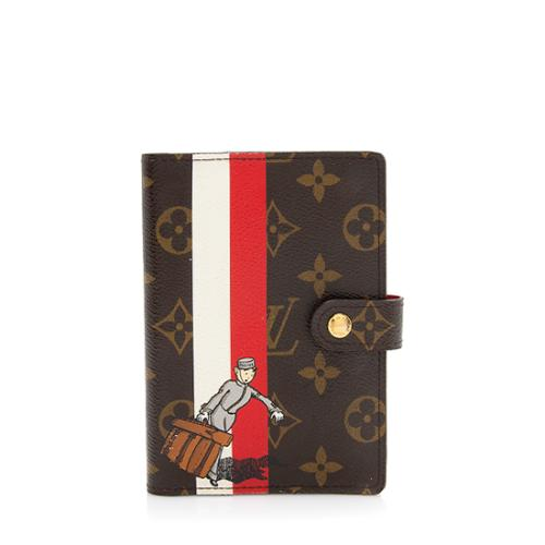 Louis Vuitton Limited Edition Monogram Canvas Groom Small Agenda Cover