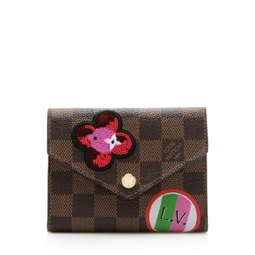 Louis Vuitton Limited Edition Monogram Canvas Patches Victorine Wallet
