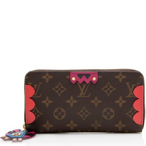 Louis Vuitton Limited Edition Monogram Canvas Totem Zippy Wallet