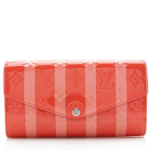 Louis Vuitton Limited Edition Monogram Vernis Rayures Sarah Wallet