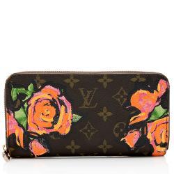 Louis Vuitton Limited Edition Monogram Roses Zippy Wallet