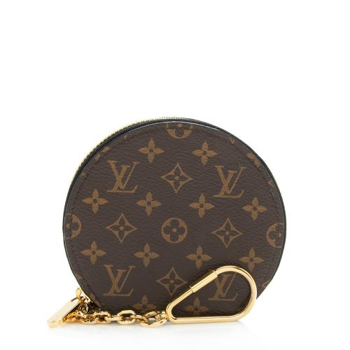 Louis Vuitton Mini Monogram Canvas Round Coin Pouch