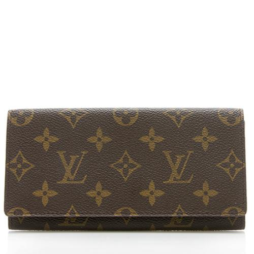 Louis Vuitton Monogram Canvas Checkbook Wallet