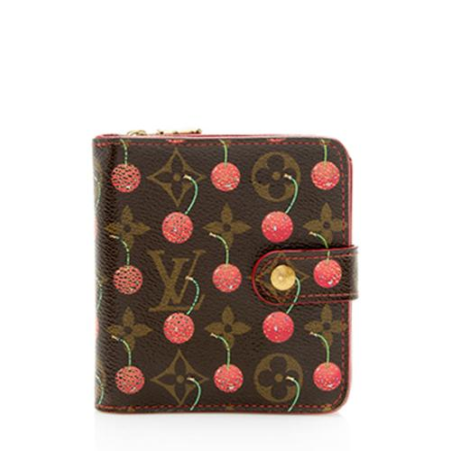 Louis Vuitton Monogram Canvas Cherry Bifold Wallet