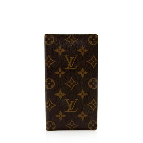 Louis Vuitton Monogram Canvas European Checkbook Cover