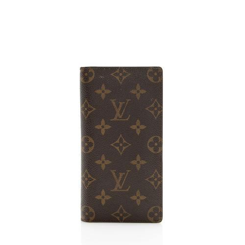 Louis Vuitton Monogram Canvas European Checkbook Cover