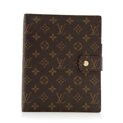 Louis Vuitton Monogram Canvas Large Ring Agenda Cover