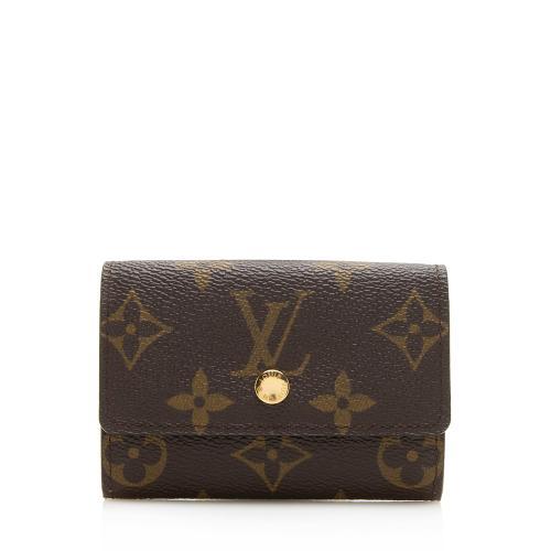 Louis Vuitton Monogram Canvas Porte Monnaie Plat Coin Case