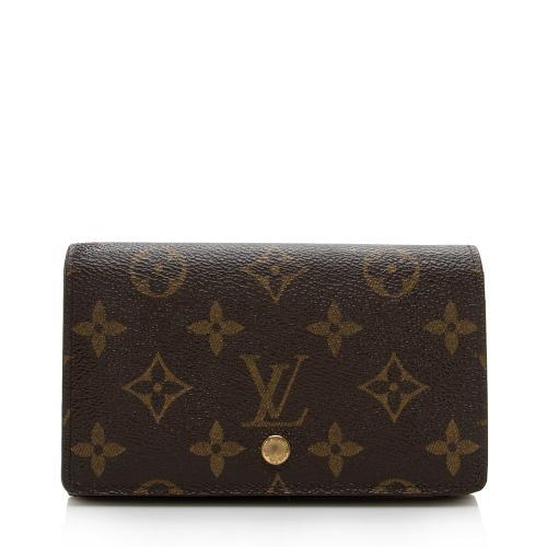 Louis Vuitton Monogram Canvas Porte Monnaie Tresor Wallet