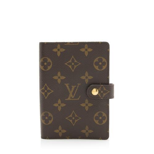 Louis Vuitton Monogram Canvas Small Ring Agenda Cover