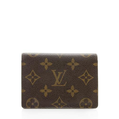 Louis Vuitton Monogram Canvas Two Card Holder Wallet