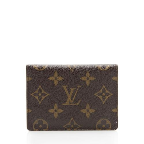 9451c1aeba Louis Vuitton Monogram Canvas Two Card Holder Wallet