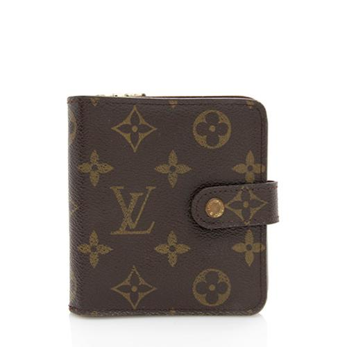 Louis Vuitton Monogram Canvas Zipped Compact Wallet