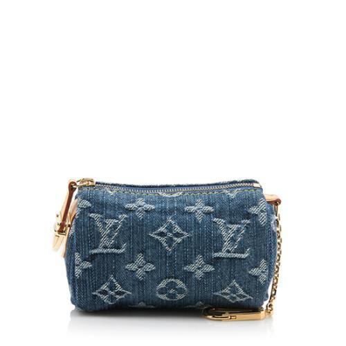Louis Vuitton Monogram Denim Speedy Case PM Bag
