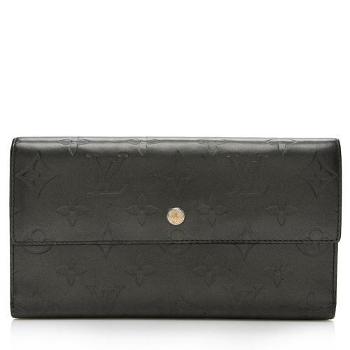 Louis Vuitton Monogram Mat Porte Tresor International Wallet