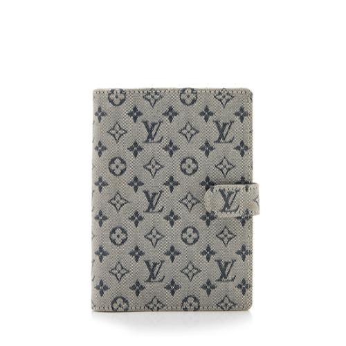Louis Vuitton Monogram Mini Lin Small Ring Agenda Cover
