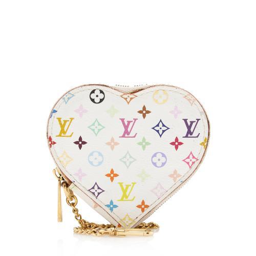 Louis Vuitton Monogram Multicolore Heart Coin Wallet