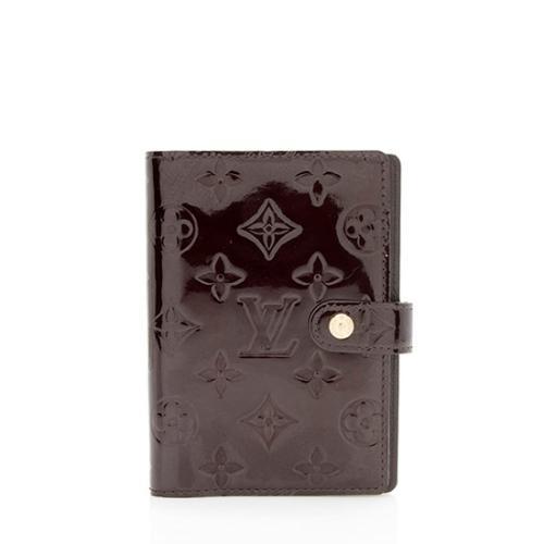 Louis Vuitton Monogram Vernis Small Ring Agenda Cover