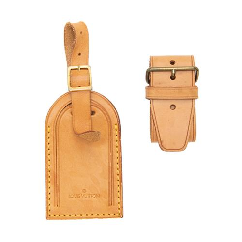 Louis Vuitton Vachetta Luggage Tag and Handle Fastener