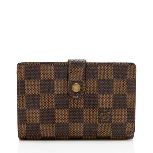 Louis Vuitton Vintage Damier Ebene French Purse Wallet
