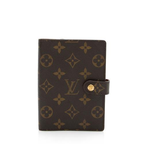 Louis Vuitton Vintage Monogram Canvas Small Ring Agenda Cover