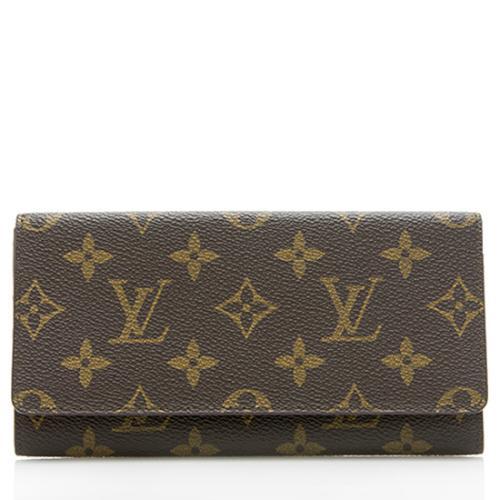Louis Vuitton Vintage Monogram Canvas Checkbook Wallet