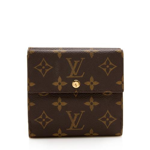 Louis Vuitton Vintage Monogram Canvas Compact Double Snap Wallet