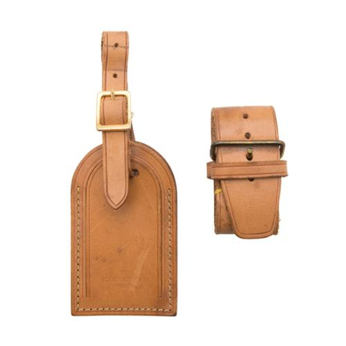 Louis Vuitton Vintage Vachetta Luggage Tag and Handle Fastener