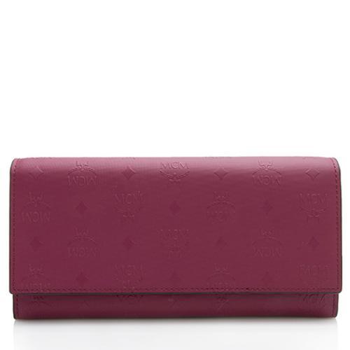 MCM Embossed Visetos Large Tri-Fold Wallet
