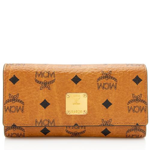MCM Visetos Flap Wallet