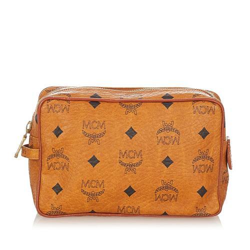 MCM Visetos Leather Pouch