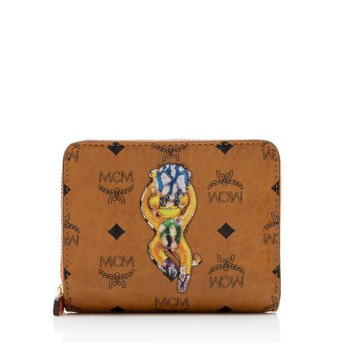 MCM Visetos Monkey Compact Wallet