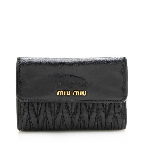 Miu Miu Matelasse Compact Wallet