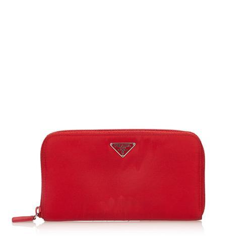 Prada Tessuto Zip Wallet
