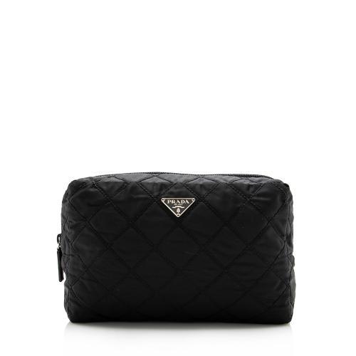 Prada Quilted Tessuto Cosmetic Bag