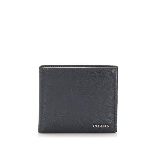 Prada Saffiano Bi-fold Small Wallet