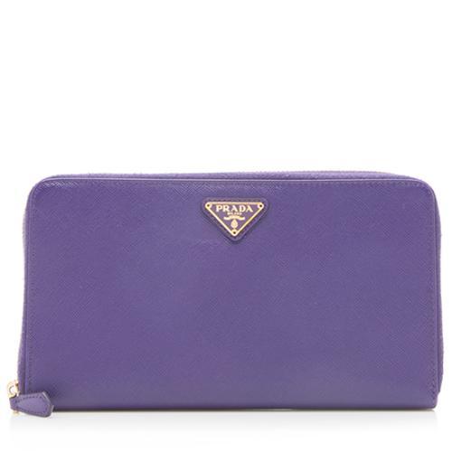Prada Saffiano Large Zip Wallet