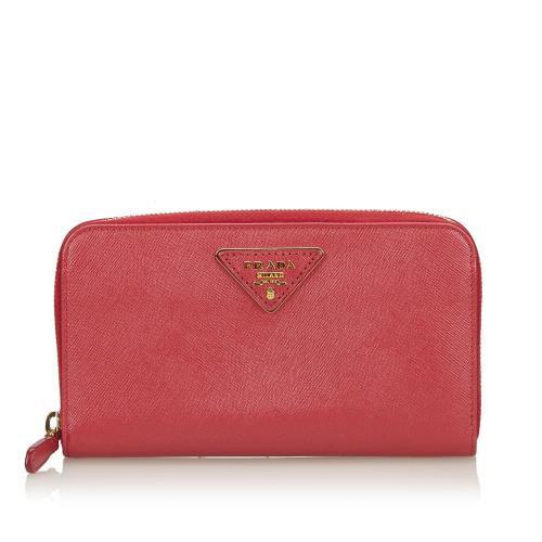 Prada Saffiano Leather Continental Wallet