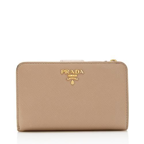 Prada Saffiano Leather Medium Wallet