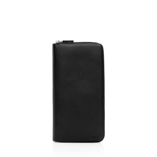 Prada Saffiano Leather Zip Large Wallet