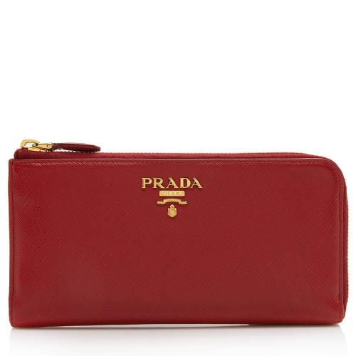 Prada Saffiano Leather Zip Wallet