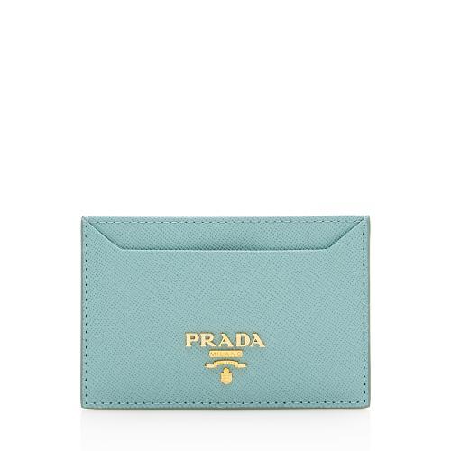 Prada Saffiano Metal Oro Card Case