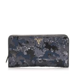 Prada Sequin Embellished Wallet